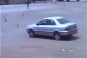 تخته گاز خودرو پلاک دولتی در مسابقه اتومبلیرانی