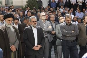 پیکر مرحوم محمد علی شعاعی  تشییع شد/تصاویر