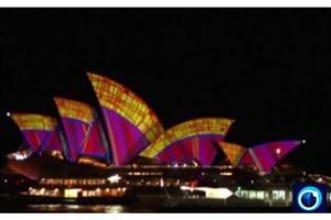 جشنواره نورهای رنگی در سیدنی؛ رقص نور و رنگ بر دیوارهای شهر