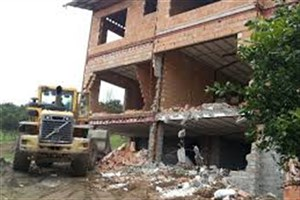 آزادسازی اراضی دولتی و تخریب ساخت و ساز غیرمجاز در انزلی