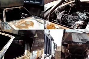 حادثه سوختن دو کودک در حریق یک دستگاه وانت/علت حادثه حریق وانت آریسان در محور آرادان - سرخه اعلام شد