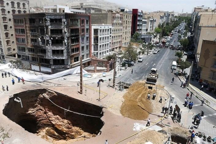 گودال حادثه شهران پرمی شود / یک نفر همچنان مفقود