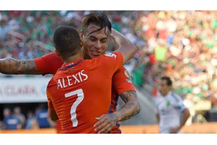 یک چهارم کوپا 2016 : شیلی 7 - 0 مکزیک
