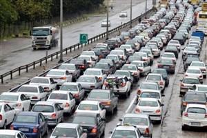 در آزادراه کرج ترافیک نیمه سنگین  است