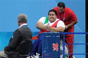 کمیته پارالمپیک: سیامند رحمان معادل وزن دو یخچال وزنه می زند