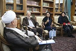 دیدار اعضای جمعیت خیریه کارآفرینان تارا با آیتالله هاشمی رفسنجانی