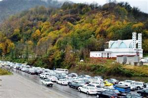 ترافیک  سنگین در جاده چالوس و هراز