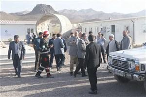 بازدید آیتالله هاشمی رفسنجانی از طرح ساخت تونل انتقال آب به کرمان