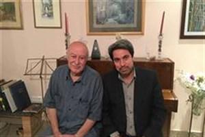 مدیر عامل بنیاد رودکی به دیدار استاد فرهاد فخر الدینی رفت