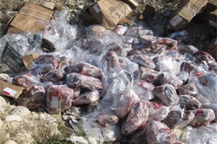 امحای 300  کیلو گوشت فاسد در اسکو