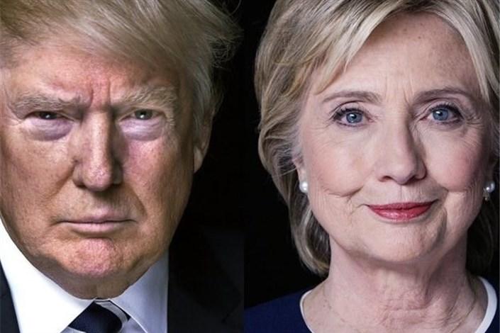 پیشتازی ترامپ بر کلینتون