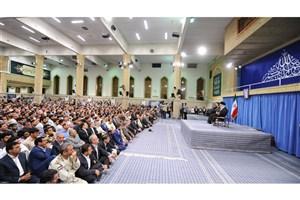 پخش دیدار هزاران نفر از اقشار مختلف مردم با مقام معظم رهبری