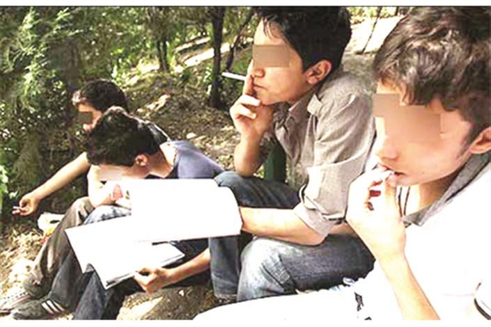 دانش آموزان معتاد