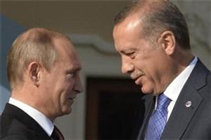تبریک پوتین به اردوغان به مناسبت سال جدید میلادی
