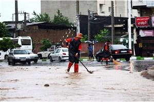 مسافران تابستانی گلستان گرفتار شدند/بارندگی شدید، وقوع سیل و خسارات در گلستان