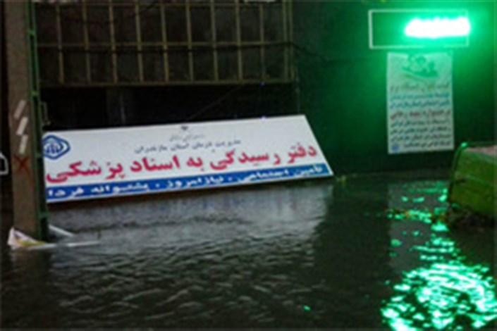 خسارت های طوفان در مازندران