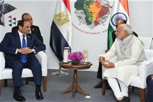 «عبدالفتاح السیسی» با نخست وزیر هند دیدار کرد