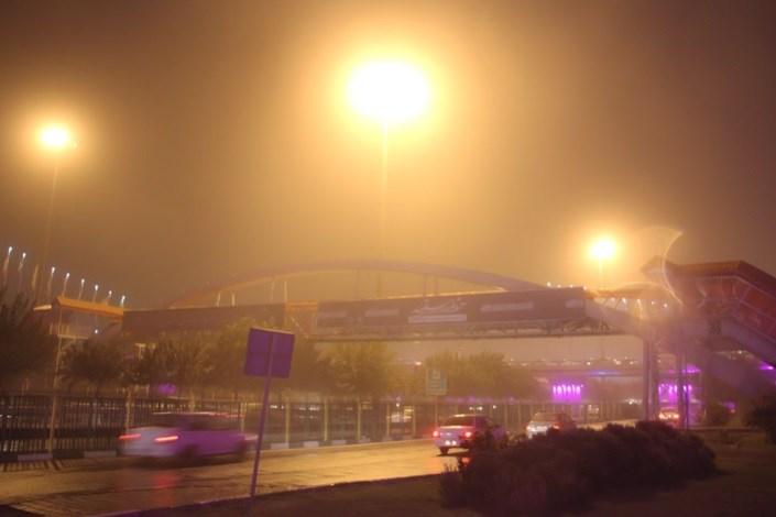طوفان گرد و خاک در تهران