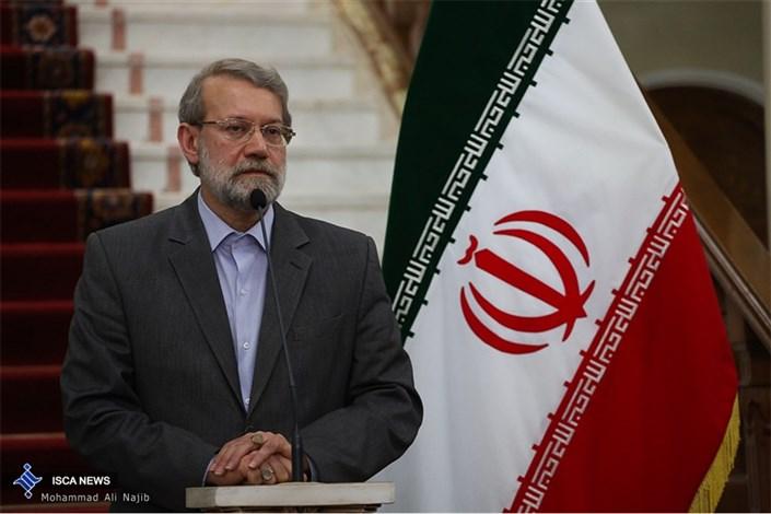 دیدار رییس مجلس شورای اسلامی و رییس جلس ملی فرانسه