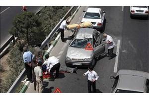 تصادف زنجیره ای در اتوبان پردیس