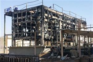 آتش سوزی مخزن نگهداری روغن صنعتی در آبادان تکذیب شد