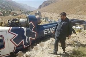 بازدید رئیس اورژانس از  محل حادثه سقوط بالگرد در  ساعات اولیه/تصاویر