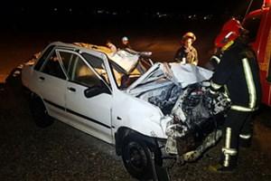 3 کشته در اثر برخورد خودرو 206  و  مگان