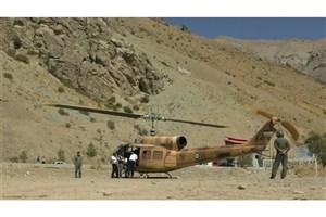 انتقال بیمار سکته مغزی به بیمارستان توسط بالگرد اورژانس