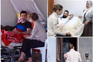 عیادت همسر بشار اسد از زخمیهای جنگ سوریه