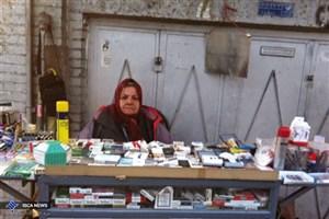 خاله فاطی  زن سیگار فروش و خوش حساب گلوبندک تهران/هیچکی نمی تواند مثل من سیگار بفروشد!