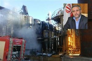 آتش سوزی در واحد پالایش فراورده های نفتی شاهرود/ علت حادثه در دست بررسی