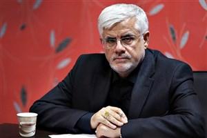 محمدرضا عارف در مراسم شب عاشورای حسینی/عکس
