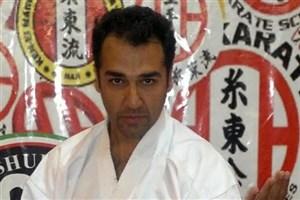 استاد دانشگاه آزاد اسلامی قهرمان مسابقات پیشکسوتان کاراته
