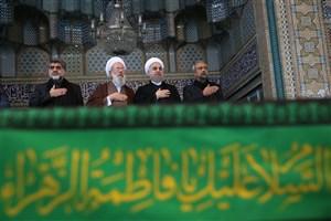 حضور رئیس جمهوری در مراسم عزاداری عاشورای حسینی در حرم حضرت عبدالعظیم(ع)
