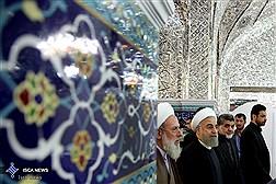 دکتر روحانی در مراسم عزاداری عاشورای حسینی در حرم حضرت عبدالعظیم الحسنی(ع)