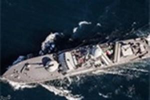 ناوگروه 45 نیروی دریایی ارتش در هند پهلو گرفت