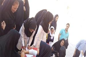 برگزاری اردوی جهادی دانشجویان واحد دهاقان با همکاری گروه پرستاری و بسیج دانشجویی