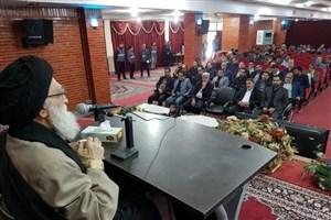 برگزاری جلسه درس اخلاق آیت الله محمودی در سالن اجتماعات واحد ورامین-پیشوا