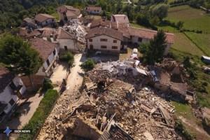 جزئیات زمین لرزه ایتالیا/امدادگران به دلیل خطر رانش زمین نمی توانند از تجهیزات سنگین استفاده کنند