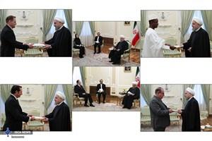 رئیس جمهوری در دیدار  با سفرای آلبانی،سیرالئون،مولداوی، سوئد، انگلستان و کلمبیا چه گفت؟