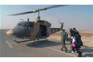 خلبان هوانیروز جان نوزادی را نجات داد