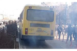 آتش سوزی ناگهانی یک اتوبوس شرکت واحد در اتوبان آزادگان