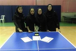 قهرمانی دانشگاه آزاداسلامی بابل در مسابقات پینگ پنگ دانشجویان دختر