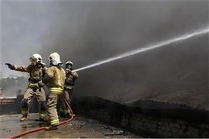 آتش سوزی در کارگاه مبل سازی