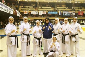 Iranian Female Karatekas  Runner-Up at So-Kyokushin Championship