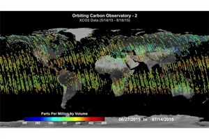 Images of Carbon Dioxide Emission Released by NASA