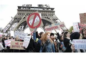 تظاهرات گسترده در فرانسه پس از اعلام نتایج اولیه انتخابات ریاست جمهوری