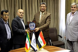 هیئت عالی رتبه دانشگاه بابل عراق در دانشگاه صنعتی امیر کبیر