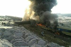سانحه قطار مسافری سمنان- دامغان موجب مسدودی خط شد