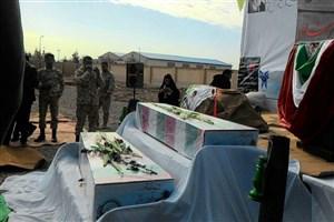 گزارش تصویری/تشییع  دو تن از شهدای گمنام در واحد زابل